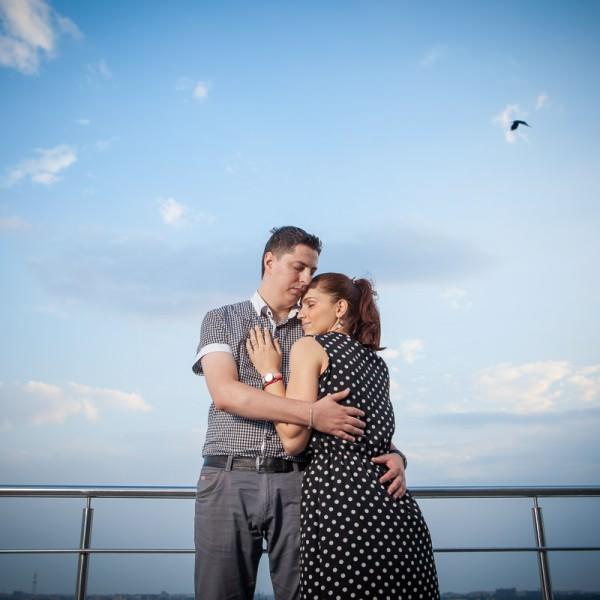 Sesiune foto de logodna la inaltime Bucuresti