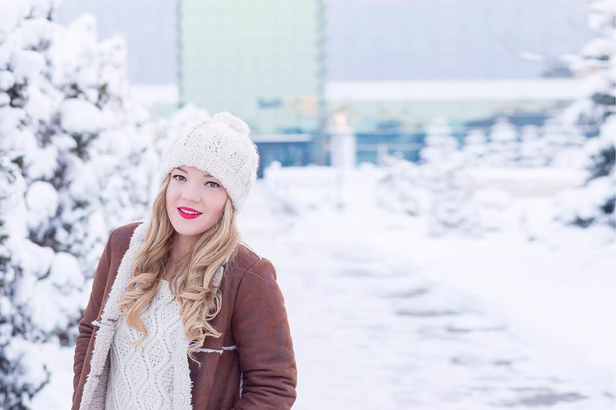 Sedinta foto cu Alexandra iarna 2015