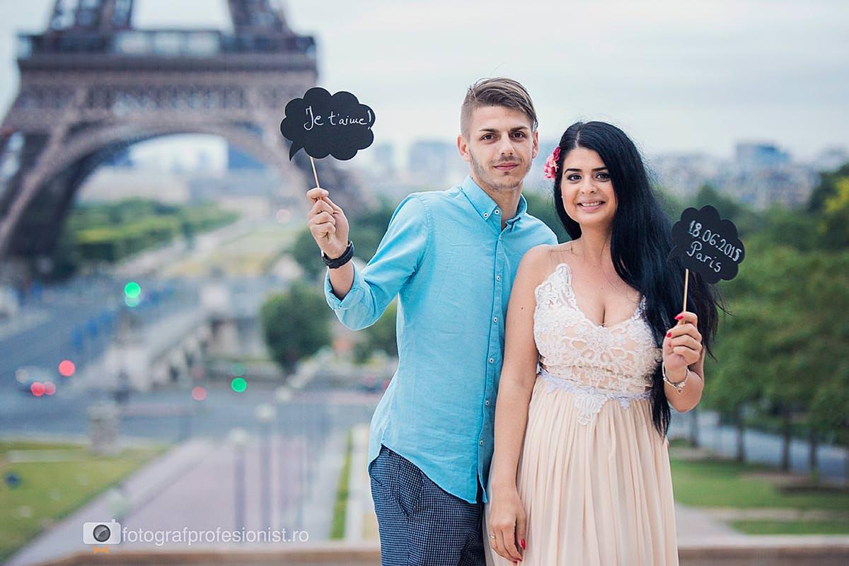 Sedinta foto de logodna in Paris 2015