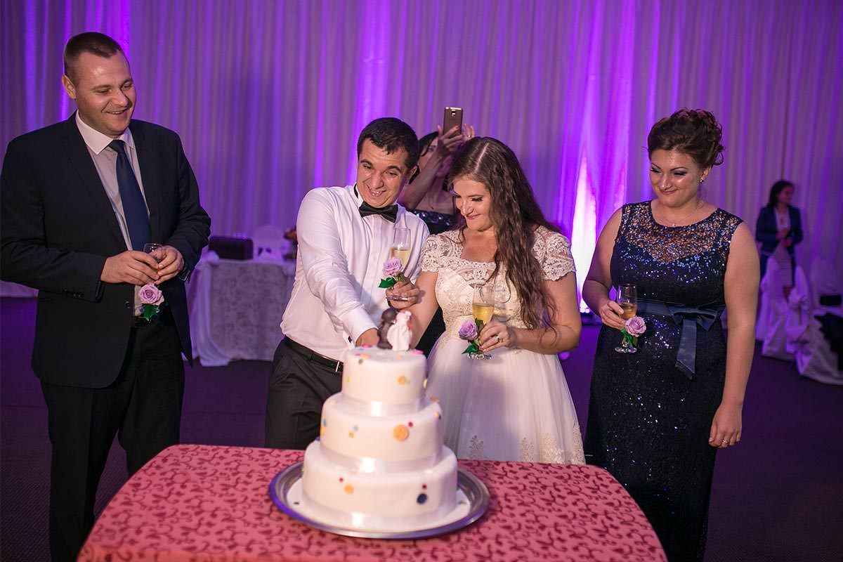fotografie de nunta tort