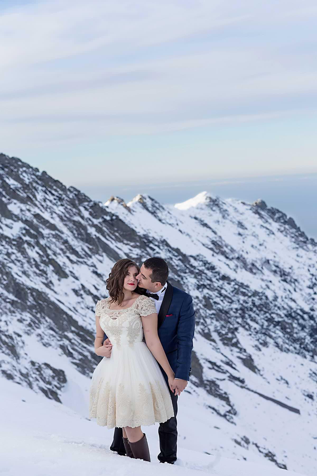 Sedinta foto dupa nunta la -10°C (lacul Balea) si Transfagarasan