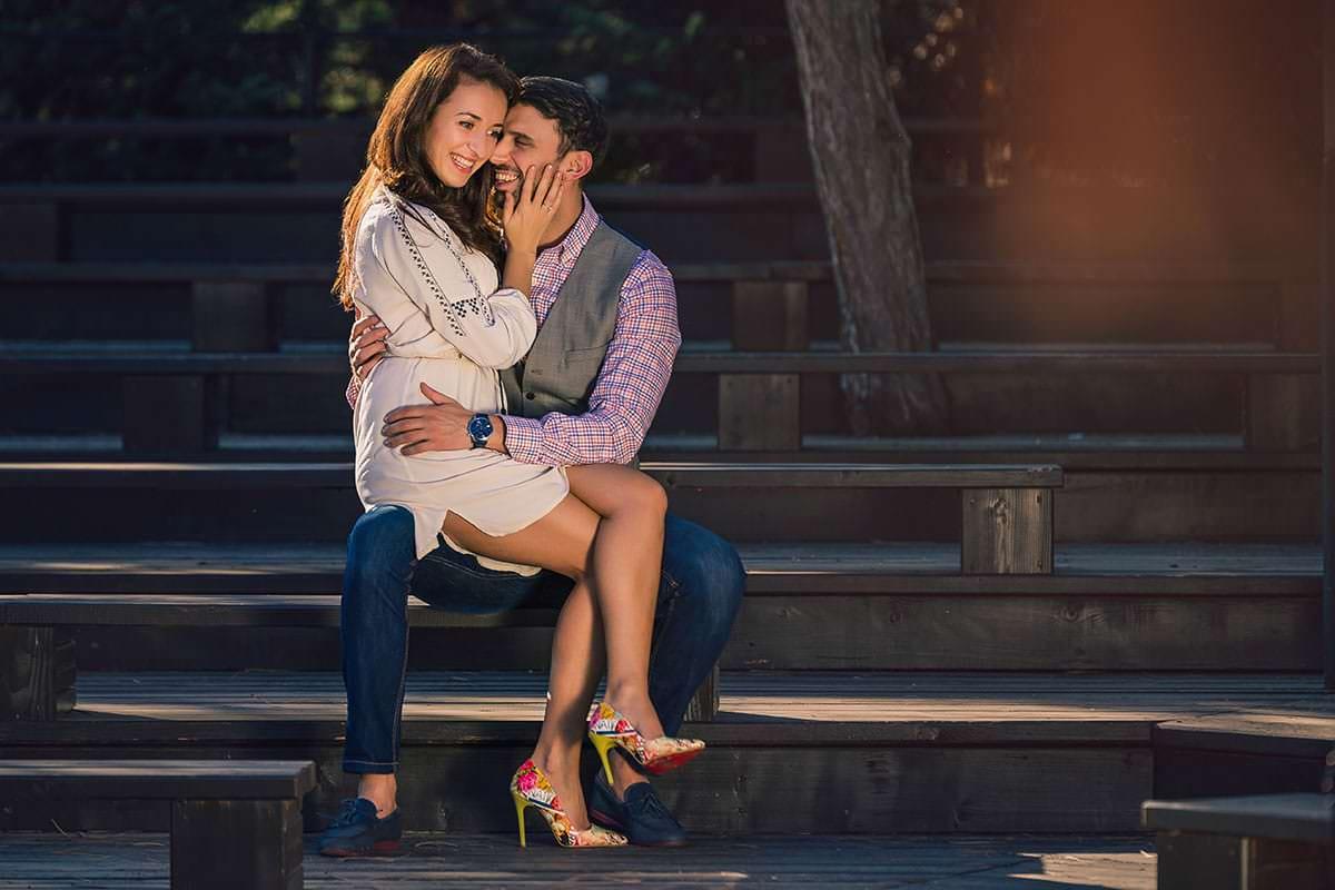 Sedinta foto de logodna in parcul ior (4)