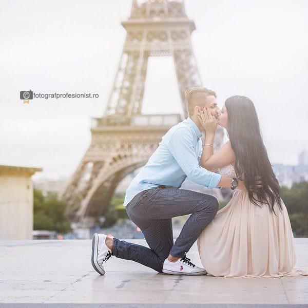 Sedinta foto de logodna in Paris