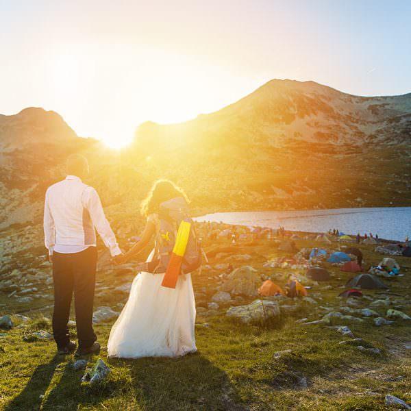 Fotografie dupa nunta la lacul Bucura cu Pusa si Foca
