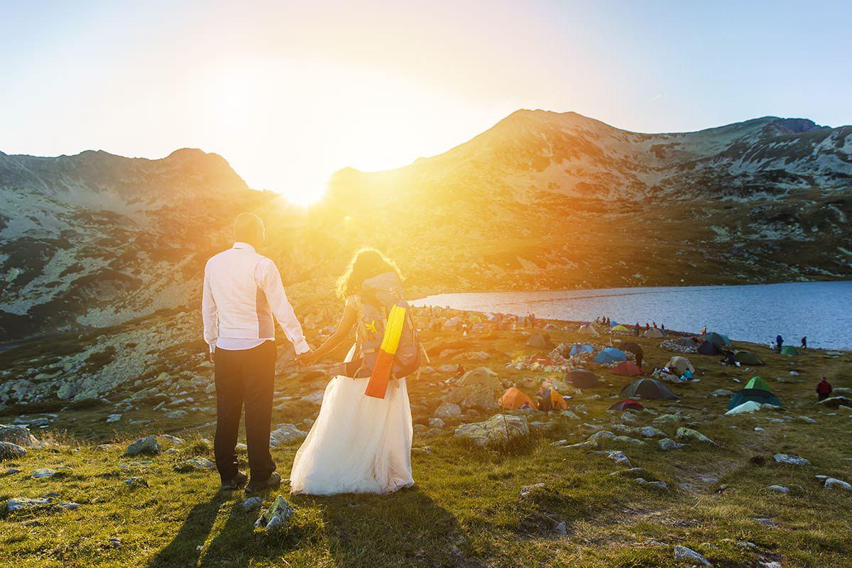 Sedinta foto dupa nunta la altitudinea de 2.040 m cu Pusa si Foca