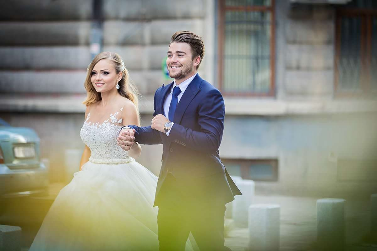 Sedinta foto trash the dress cu Madalina si Andrei