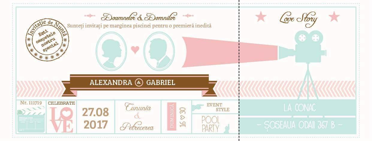 Invitatie de nunta realizata de Lady Cozac
